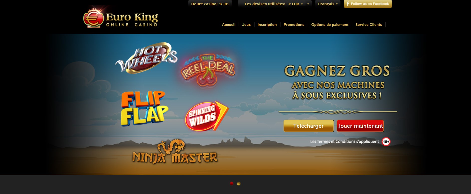 Euro King casino VS Euromoon casino avis : notre comparatif !